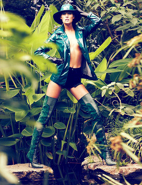Boot Fashion: Toni Garrn in Sergio Rossi Thigh High Boots. Antidote Magazine, Fall/Winter 2012.