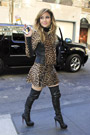 Celebrities in Boots: Jennifer Lopez In Christian Louboutin Thigh High Boots. New York City, 01.22.2013.