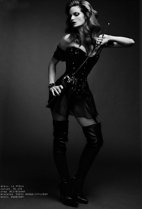 Boot Fashion: Stefani Sober in Burberry Prorsum Thigh High Boots. Superior Magazine, 11.2012.