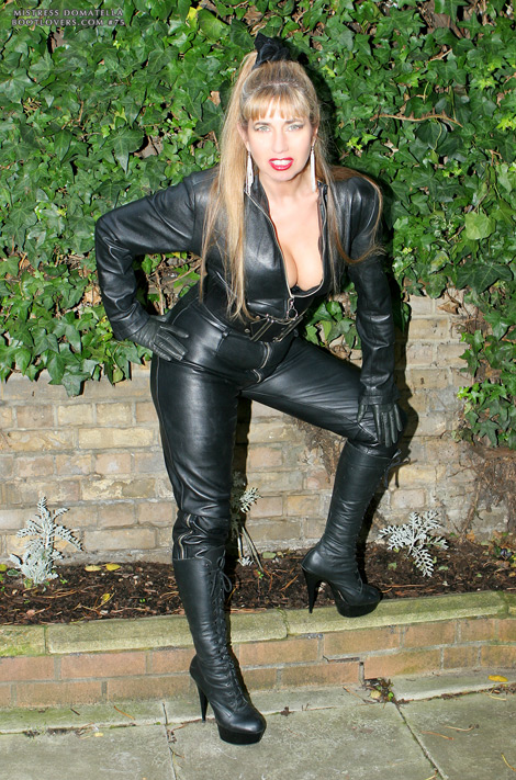 Bootlovers.com #75 Preview: Mistress Domatella of London in Thigh High Boots & Leather Opera Gloves!