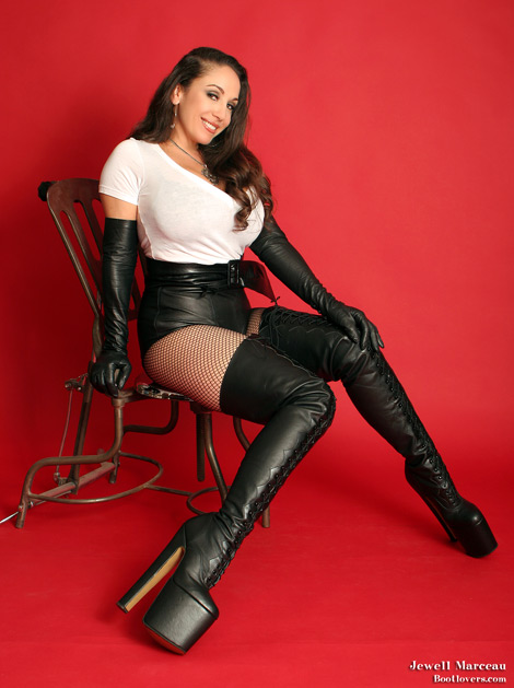 Early Bootlovers.com #76 Preview: Jewell Marceau in Lace Up Thigh High Platformed Boots!