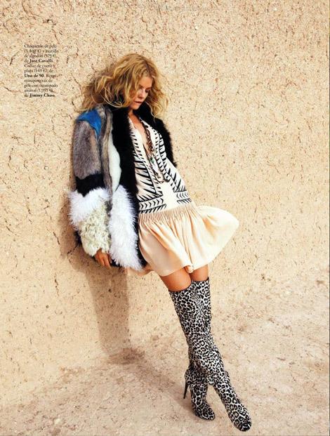 Boot Fashion: Cristina Tosio in Jimmy Choo Thigh High Boots. Elle Spain, 11.2012.