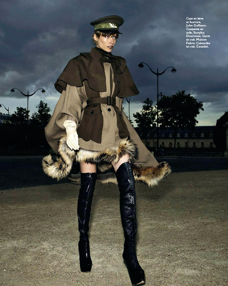 Boot Fashion: Tosca Dekker in Casadei Laced Thigh High Boots. Grazia France, 10.2012.