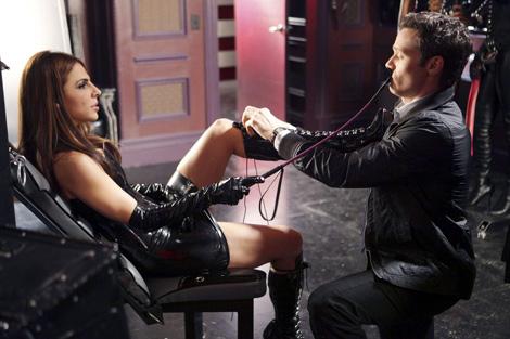 Celebrities in Boots: Azita Ghanizada in Knee High Boots. 'The Mistress Always Spanks Twice' Castle Still, 2010.