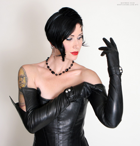 mistress gloves Leather opera