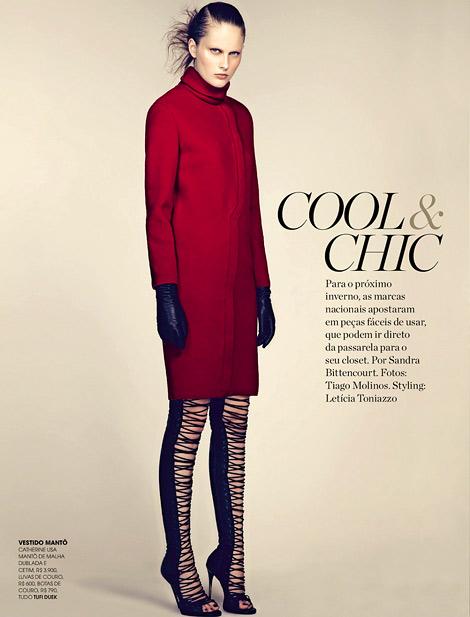 Boot Fashion: Catherine Ballmann in Tufi Duek Thigh High Boots. Marie Claire Brasil, 03.2013.