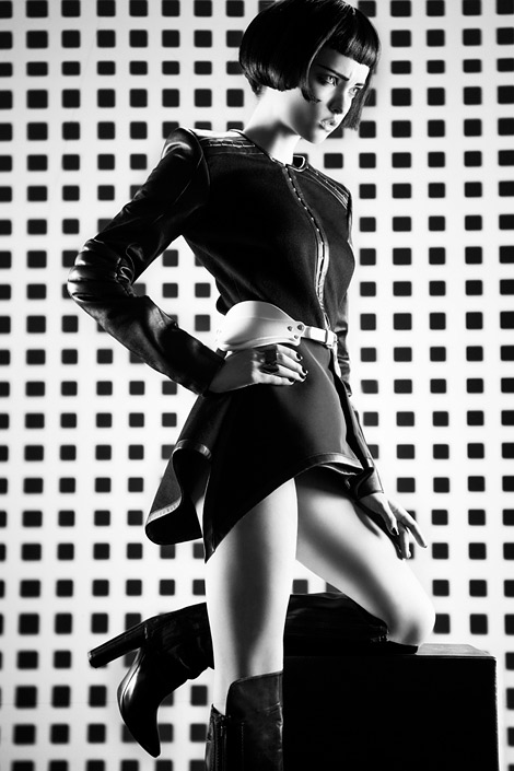 Boot Fashion: Elena Sartison in Costume National Knee High Boots. Bambi Magazine #13, Spring 2013.