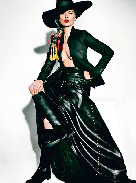 Boot Fashion: Kate Moss in Hermès Riding Boots. Vogue Paris, 04.2013.