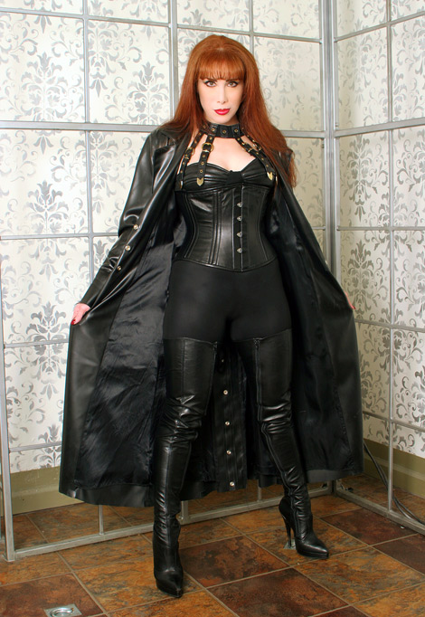 Bootlovers.com #76 Preview: NYC's Mistress Sabrina Winter in Little Shoe Box Crotch High Leather Thigh High Boots!