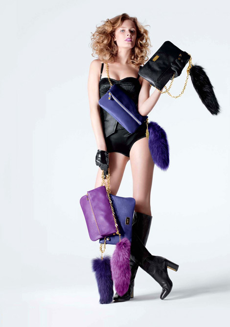 Boot Fashion: Constance Jablonski in Nine West Knee High Boots. Nine West Fall/Winter 2012 Campaign.