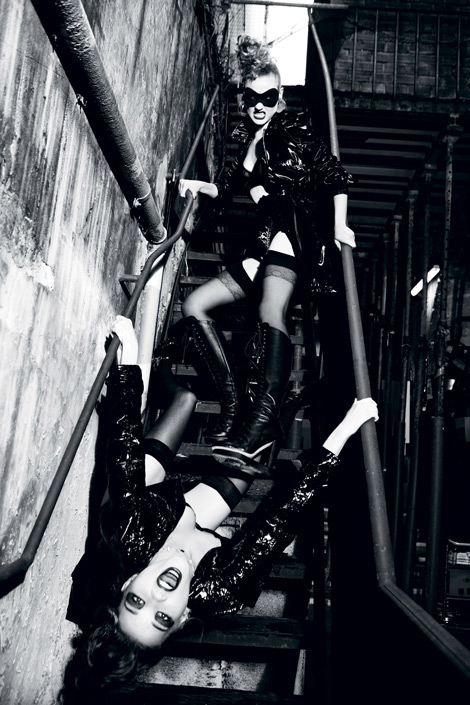 Boot Fashion: Charlotte Di Calypso in Alain Quilici Knee High Boots. 7000 Magazine #2, Fall 2012.