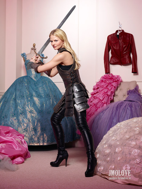 Celebrities in Boots: Jennifer Morrison in Thigh High Boots. 'Once Upon A Time' Season Two Promotional Images.