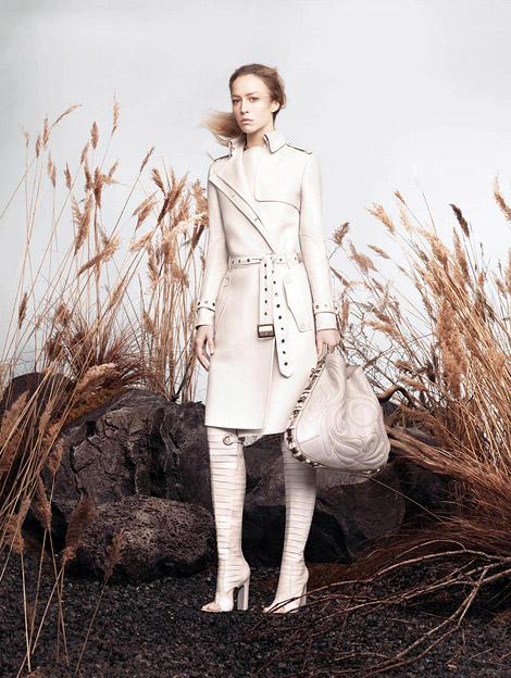Boot Fashion: Raquel Zimmermann in Salvatore Ferragamo Over The Knee Boots. Salvatore Ferragamo Spring/Summer 2013 Campaign.