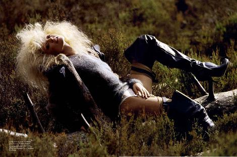 Boot Fashion: Martha Hunt in Hussein Chalayan Thigh High Boots. Muse Magazine #20.