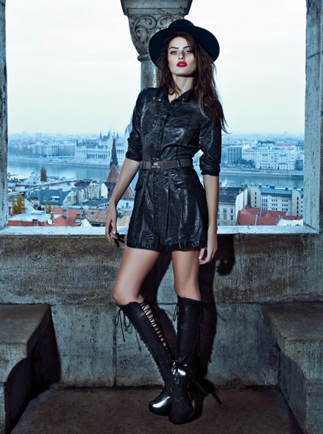 Boot Fashion: Isabeli Fontana in Morena Rosa Laced Knee High Boots. Morena Rosa, Fall 2013 Campaign.