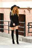 Celebrities in Boots: Blake Lively in Thigh High Boots. Photo Shoot for Lucky Magazine. NYC, 05.07.2013.