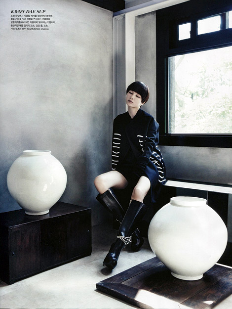 Boot Fashion: Lee Hyun-Yi in Rick Owens Knee High Boots. Vogue Korea, 08.2013.