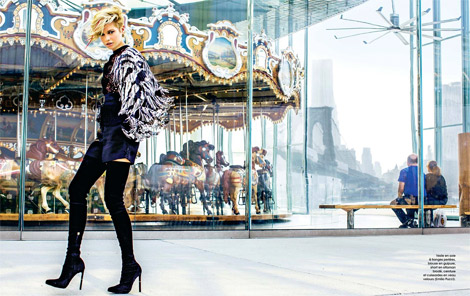 Boot Fashion: Stella Maxwell in Emilio Pucci Crotch High Boots. Marie Claire France, 09.2013.