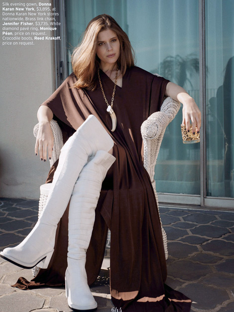 Celebrities in Boots: Kate Mara in Reed Krakoff Over The Knee Boots. Elle US, 07.2013.
