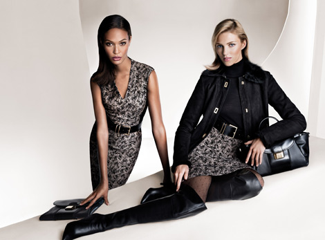 Boot Fashion: Anja Rubik in Boss Black Over The Knee Boots. Boss Black Fall/Winter 2013/2014 Campaign.