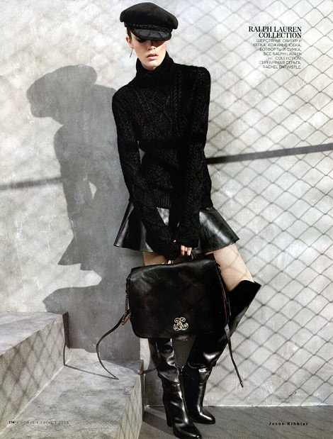 Boot Fashion: Patrycja Gardygajlo in Ralph Lauren Over The Knee Boots. Vogue Russia, 08.2013.