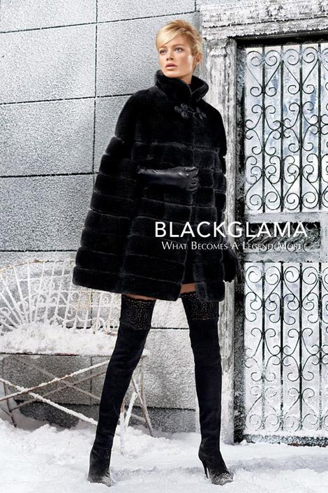 Boot Fashion: Carolyn Murphy in Blackglama Thigh High Boots. Blackglama Fall 2013 Campaign.