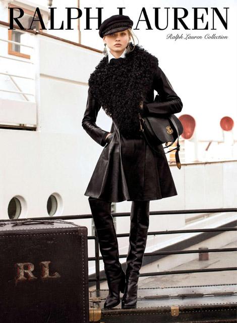 Boot Fashion: Hana Jirickova in Ralph Lauren Over The Knee Boots.Ralph Lauren Fall 2013 Campaign.