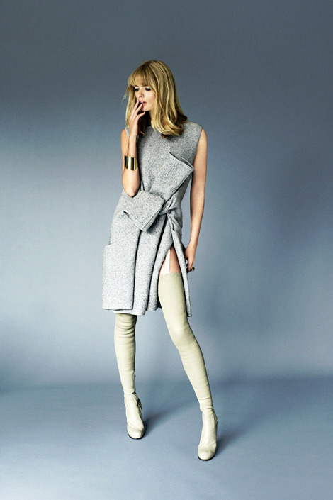 Boot Fashion: Julia Stegner in Céline Thigh High Boots. Grazia Germany, 09.2013.