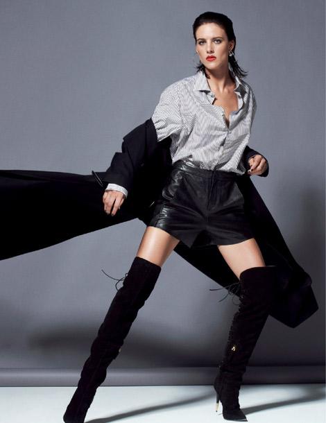 Boot Fashion: Eliza Cummings in Guiseppe Zanotti Thigh High Boots. Mixt(e) Paris #5, Fall 2013.