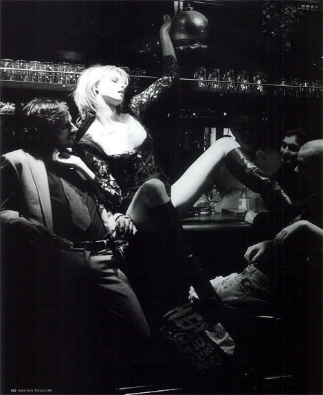 Boot Fashion: Eva Padberg in Dolce & Gabbana Knee High Boots. AnOther Magazine Premiere Issue F/W 01.02.