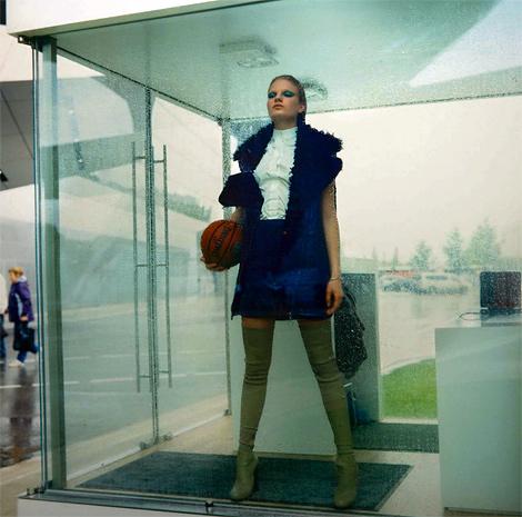 Boot Fashion: Eleonora Baumann in Céline Thigh High Boots. Marie Claire Italia, 10.2013.