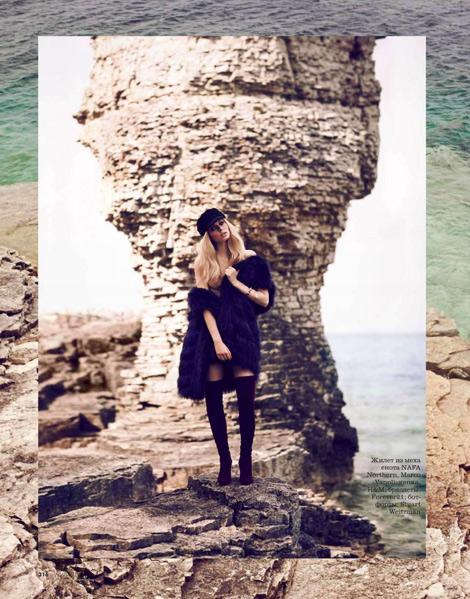 Boot Fashion: Lisette van der Brand in Stuart Weitzman Thigh High Boots. Elle Russia, 11.2013.