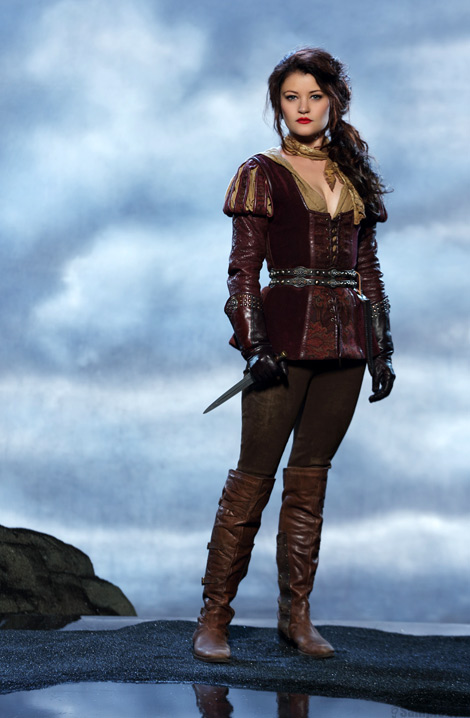 Celebrities in Boots: Emilie de Ravin in Over The Knee Boots. Once Upon A Time Season Three Promo Image.