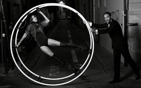 Boot Fashion: Joan Smalls in Chanel Thigh High Boots. Vogue España, 12.2013.