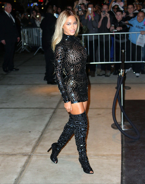 Celebrities In Boots Beyonc 233 In Tom Ford Thigh High Boots