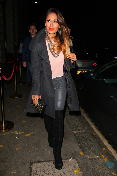 Celebrities in Boots: Preeya Kalidas in Over The Knee Boots. London, 12.23.2013.