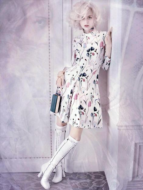 Boot Fashion: Esmeralda Seay-Reynolds in Miu Miu Knee High Boots. Vogue Germany, 03.2014.