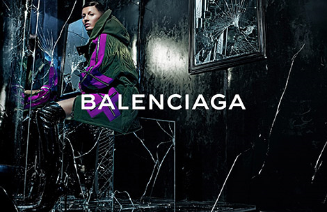 Boot Fashion: Gisele Bündchen in Balenciaga Patent Leather Thigh High Boots. Balenciaga F/W 14.15 Campaign.