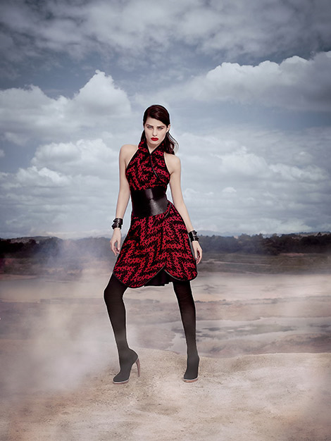 Boot Fashion: Isabeli Fontana in Tufi Duek Thigh High Boots. Tufi Duek F/W 14.15 Campaign.