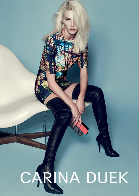 Boot Fashion: Aline Weber in Carina Duek Thigh High Boots. Carina Duek F/W 14.15 Campaign.