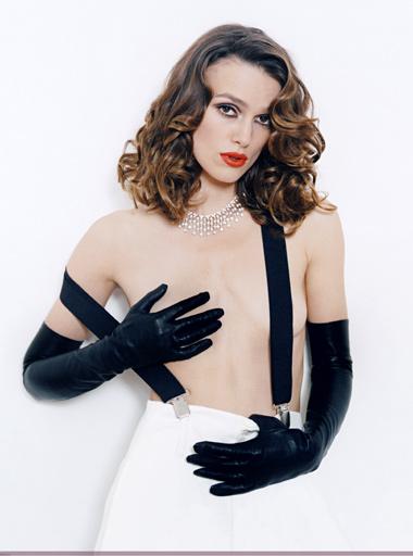 Keira Knightley - Black Leather Gloves I